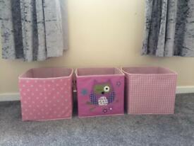 3 storage boxes