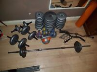 Free weights/weight plates and stand