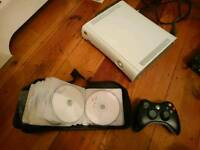 Console Xbox 360 120gb with 57 games