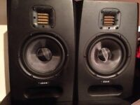Adam F5 Active Studio Monitors (Nearfield) (Pair) with stands and leads