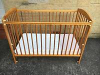 Wooden Dreamtime Cot with Waterproof Mattress