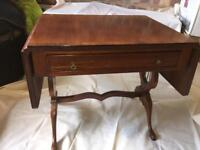Antique small drop leaf table