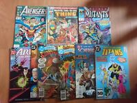 Lot vintage DC and Marvel comics from 80's and 90's