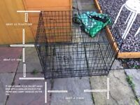 Dog cage for back or boot of car