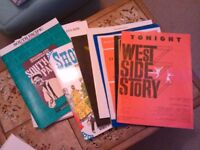 Sheet music and books