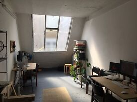 Desk space to rent in Dalston, Hackney – Bright and clean studio shared by a designer and filmmaker