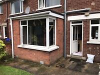 White PVC door and window, ideal for home or garage