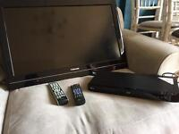 Toshiba 32 inch LCD HD Ready TV and LG Blu Ray/DVD player