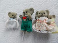 Sylvanian Koala Parents & Twins and Baby Carriers Combined postage available please see description