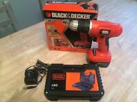 Bath Gently Used Black and Decker cordless drill /driver with charger and Utility bits