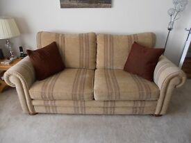 3 seater sofa gold by Barker&Stonhouse as new 1 yr old Current Middleton range