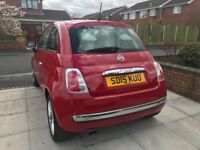 Red Fiat 500 Lounge