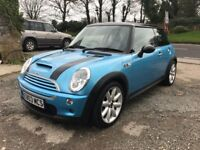 MINI COOPER S 1.6 SUPERCHARGED BLUE 3DR 2003 LEATHER
