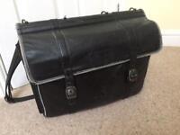 Leather man bag - lots of pockets & strap