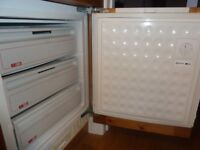 Neff integrated under counter built in freezer - fully working
