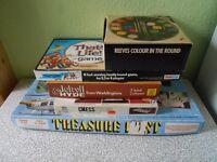 JOBLOT VINTAGE BOARD GAMES TREASURE HUNT CHESS THATS LIFE ETC.