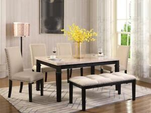 DINING TABLE WITH BENCH | 6PCS (KW2417)