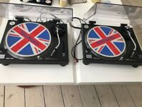 Pair of TECHNICS SL-1210 MK2 Direct Drive Turntables + Ortofon S-120 Stylus's