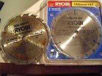 "Ryobi 6"" blades for battery circular saw (Ryobi 1)"