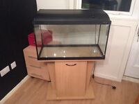 120ltr Fish Tank with filter, heater and accessories