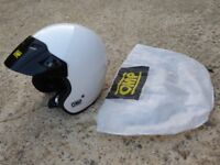 *GENUINE SIZE LARGE 60cm OMP STAR OPEN FACE TRACK DAY HELMET* £40