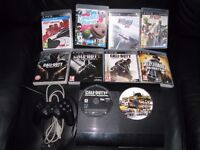PS3 SUPER SLIM With 10 Games and 1 controller 80GB