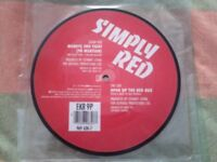 "Simply Red (Mick Hucknall) 7"" Picture Vinyl Record"