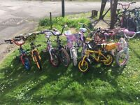 10 x Childrens / Kids bikes bicycles for Export