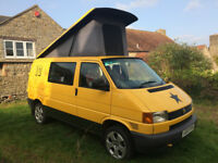 2003 VW T4 Transporter SWB Camper Van Conversion Pop Top Awning Full Width Bed