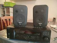 2x JBL CONTROL ONE SPEAKERS 200WATT X2, SONY DIGITAL AUDIO/VISEO CENTER