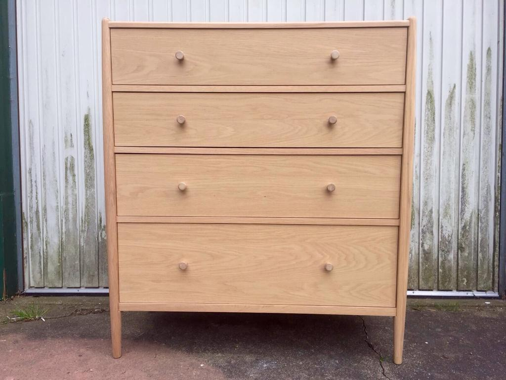 Ercol For John Lewis Contemporary Light Oak Chest Of Drawers Rrp