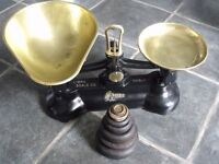 Vintage Libra Librasco Cast Iron Kitchen Scales With Weights