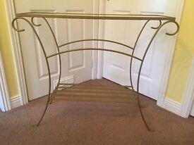 Hall table - glass top