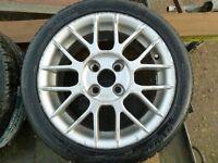 Corsa Alloys 7Jx15. Two New 195/45Tyres