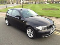 58 PLATE BMW 118D 3 DOOR BLACK FULL BMW SERVICE HISTORY VERY CLEAN DRIVES GREAT