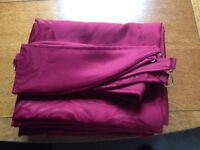 2 Pairs of Wine Coloured Curtains