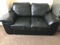 Medium Black 2 Seater Sofa