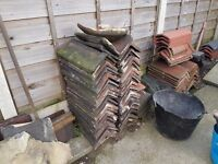 Cap angled roofing ridges , £1.50 each
