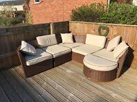 7 Piece Modular Rattan Corner Sofa Set