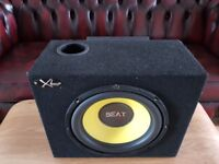 CAR ACTIVE SUBWOOFER BEAT 1000 WATT 12 INCH WITH KENWOOD AMPLIFIER BASS BOX AND AMP SUB WOOFER