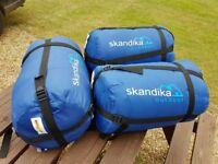 Skandika Large Sleeping Bags (3 off) (Used for only one night)