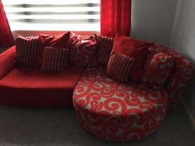 Dfs corner sofa, 2seater and cuddle chair