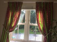 Quality curtains. Floor length,beautiful fabric with bespoke trim.
