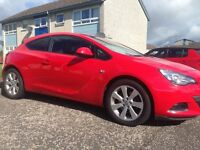Vauxhall Astra gtc 1.4 turbo red