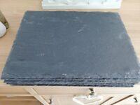 8 Slate Table Mats