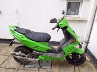 Scooter - Peugeot Speedfight 2 50cc 2006 - NEW MOT 12 months + Helmet + Chain + Rain Cover