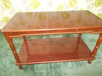 Coffee table, integral shelf