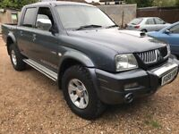 Mitsubishi L200 Warrior LWB 2477cc Turbo Diesel 5 speed manual 4 door Pick-Up 55 Plate 14/11/2005