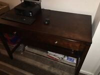 Desk with two drawers