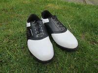 Dunlop White & Black Golf Shoes size 6